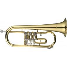 B Flügelhorn mit Drehventilen, im Softcase