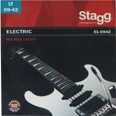Vernickelter Stahl Saitensatz für E-Gitarre 09-42