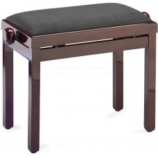 Klaviersitz Mahagoni poliert mit schwarzem Stoffpolster