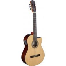 Konzertgitarre mit Cutaway und Preamp aus der Cereza Series von Angel Lopez