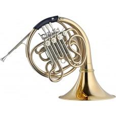 F/B Doppelhorn komplett in Goldmessing, im Formkoffer