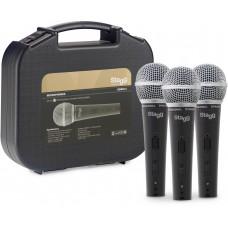 Set bestehend aus 3 professionellen dynamischen Mikrofonen