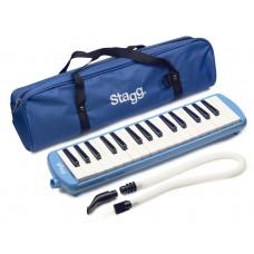 Melodica aus Kunststoff, Farbe blau, 32 Tasten