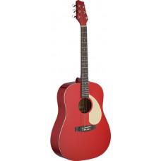 akustische Gitarre mit Lindendecke in rot, SA30D-RA