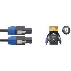 professionelles Lautsprecherkabel Speakonstecker 2 x 2,5 mm2, 1,5 Meter Länge, 4-Pin/ 2 angeschl
