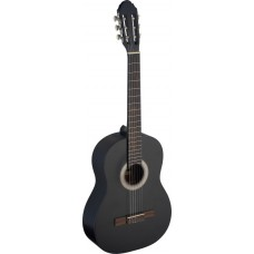 4/4 Konzert Gitarre schwarz matt, Klassikgitarre
