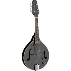 Bluegrass Mandoline mit Tonabnehmer, Pickup, schwarz