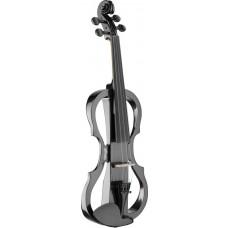 eGeige, e-Violine, Silent Violine Komplettset, schwarz metallic