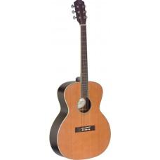 Akustikgitarre mit massiver Decke aus Zeder, Ezra Serie 4/4 Jumbo