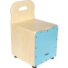 Kinder-Cajon mit EasyGo-Rückenlehne, blaue Frontplatte