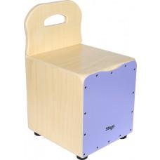 Kinder-Cajon mit Rückenlehne, Frontplatte violett