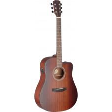Deveron Serie Cutaway Elektro-Akustikgitarre mit Decke aus massivem Mahagoni