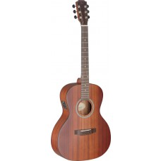 Elektro-Akustische Gitarre mit Decke aus massivem Mahagoni