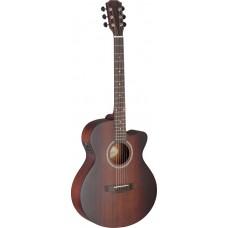Elektro-Akustische Gitarre mit massiver Mahagoni Decke Deveron Serie