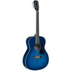 Westerngitarre mit massiver Fichtendecke, blau