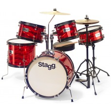 "5PC 16""JR DRSET+HW/THRONE-RED"