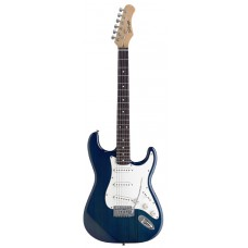 """S"" E-Gitarre, Stagg 3 x Singlecoil, blau"