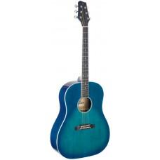 Westerngitarre, blau