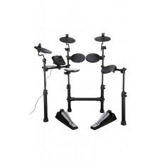 7-teiliges elektronisches Mesh Fell Drumkit mit 5 Pads und 4 Becken