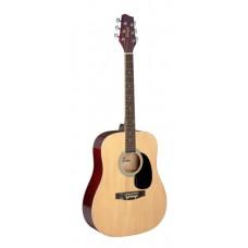 1/2 Natur Dreadnought Akustikgitarre mit Decke aus Lindenholz