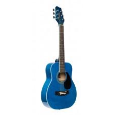 1/2 Blau Dreadnought Akustikgitarre mit Lindenholzdecke