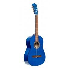 3/4 klassische Gitarre mit Lindendecke, blau