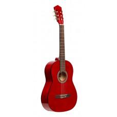 3/4 klassische Gitarre mit Lindendecke, rot