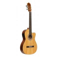SCL70 Klassische Gitarre mit Fichtendecke und aktivem Preamp, matt, Naturfarbe