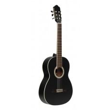 SCL70 Klassische Gitarre mit Fichtendecke, Schwarz