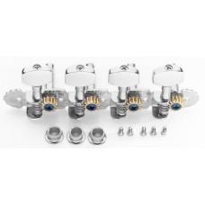 Mechaniken für Mandoline, 2 x 4, Standard, Finish Chrom