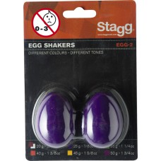 Schütteleier (Paar), Kunststoff, violett, EGG-2 PP