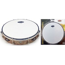"10"" stimmbares Kunststoff Tambourin in Natur"