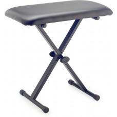 Keyboardbank in X-Form, mit einklappbaren Beinen, Höhe 55 bis 60 cm