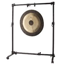 Vielseitiges einstellbares Gongstativ auf Rädern für alle Gongs