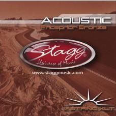 Phosphor Bronze Saitensatz für 12-saitige Akustikgitarre, Stagg, AC-12ST-PH, Medium 10-47
