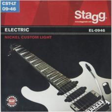 Vernickelt Stahl Saitensatz für E-Gitarre, custom light