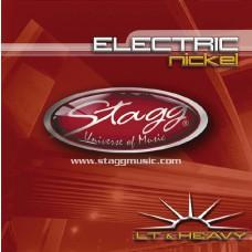 Vernickelter Stahl Saitensatz für E-Gitarre,  light & heavy