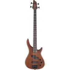 "4-saitige ""Fusion"" E-Bassgitarre, Stagg, dunkelbraun, walnuss"