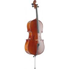 3/4 Vollmassives Cello von Stagg mit Ahorn Korpus und Tasche