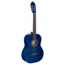 4/4 Konzertgitarre, blau matt