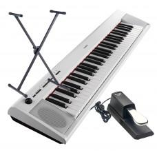 Keyboard Yamaha NP-12 WH weiss im Set mit Ständer und Pedal