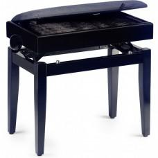 Klavierbank Modell 55 mit Notenfach schwarz matt