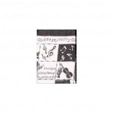 Schal Violine, schwarz/ weiß