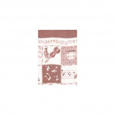 Schal Violine, weinrot/ weiß