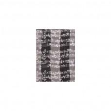 Schal Noten, schwarz/ weiß