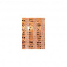Schal Noten, orange/ schwarz