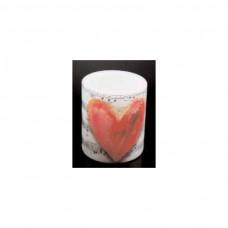 Windlicht-Kerze Herz/Noten