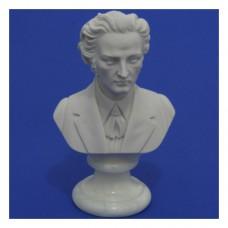 Komponisten-Büsten Chopin weiß, Höhe 16 cm