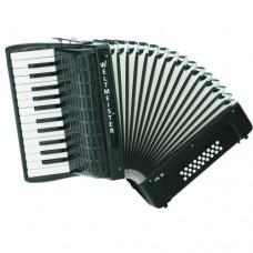Weltmeister Freebass-Akkordeon FB 26 26/I/26/I Piano schwarz