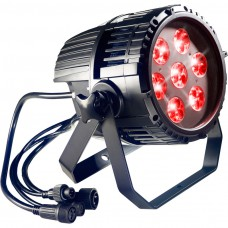 Wasserdichter multicolor LED Spotlight mit 21 x 3W (7 x 3 RGB) LEDs